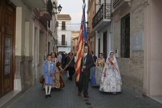 Almàssera celebra la festivitat de la Comunitat Valenciana amb una processó cívica