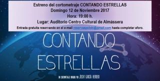 Contando Estrellas s'estrena a Almàssera el 12 de novembre