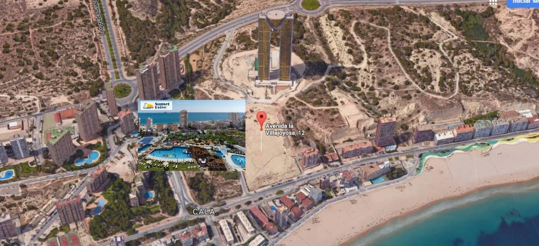 Promoción de TM Grupo Inmobiliario junto al edificio InTempo y a los terrenos adquiridos.