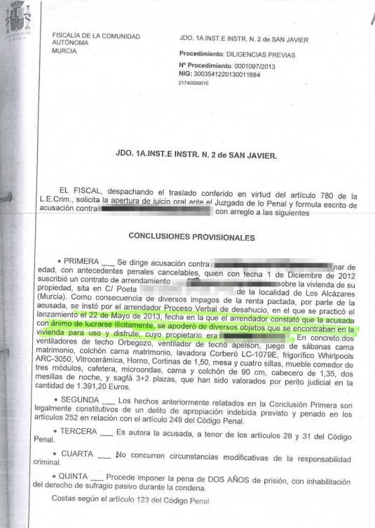 Acusación del Ministerio Fiscal de un caso concreto de PlusLegal Abogados. (Pinche sobre la imagen para ampliar)