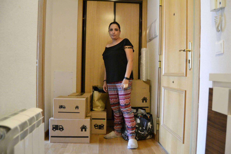 Raquel ha puesto a la venta su vivienda hace una semana. (M.Z.)