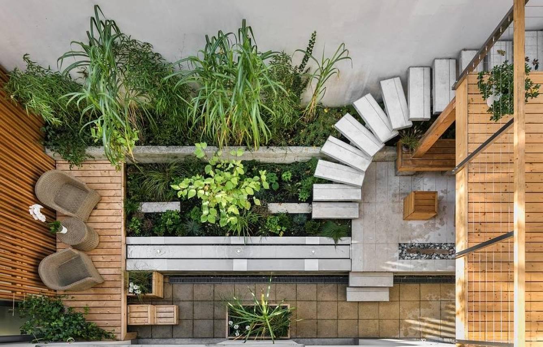 Casa con terraza interior. (Pixabay)