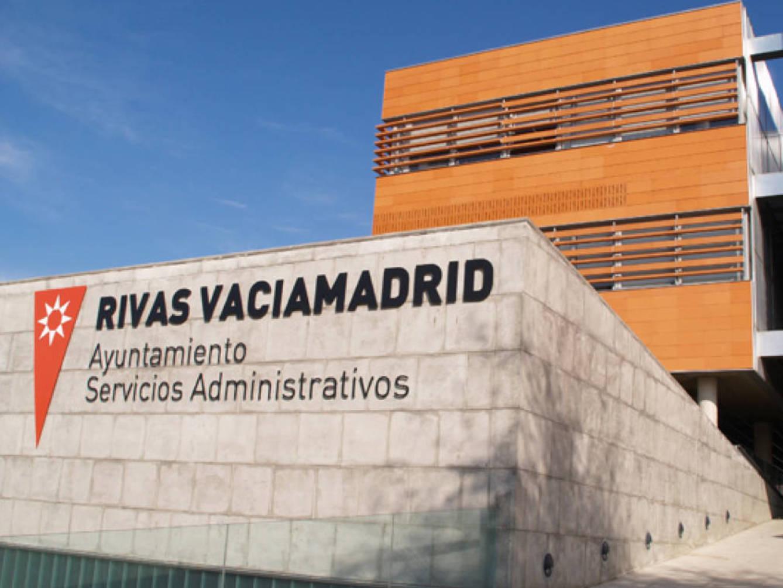 Fachada del ayuntamiento de Rivas Vaciamadrid.