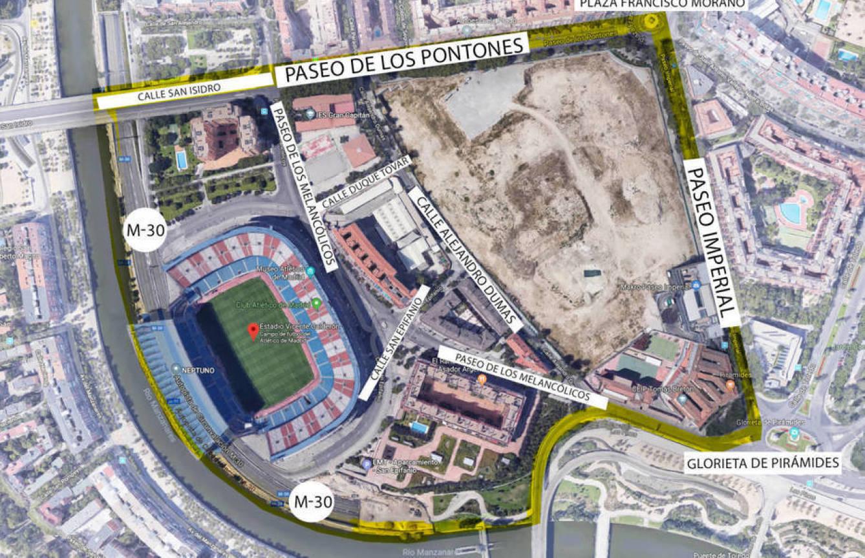 Pinche para ampliar el mapa del ámbito Mahou-Calderón.
