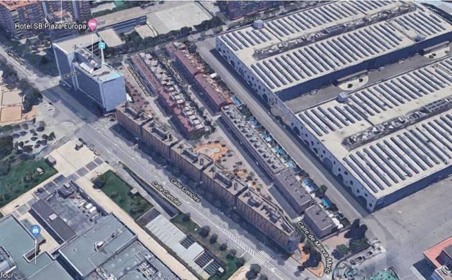 Vista aérea de la ubicación de las viviendas.