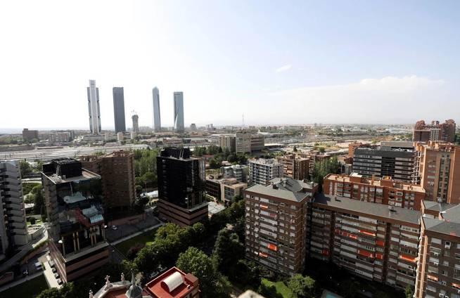Vista general de las cuatro torres, Madrid. (EFE)