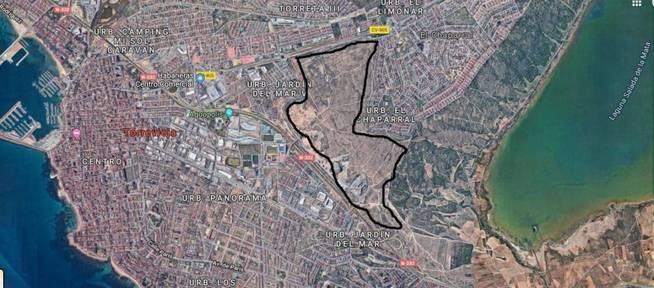 Imagen aérea del ámbito de La Hoya.