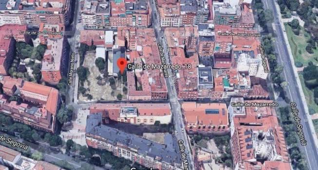 Imagen aérea de la parcela en venta.